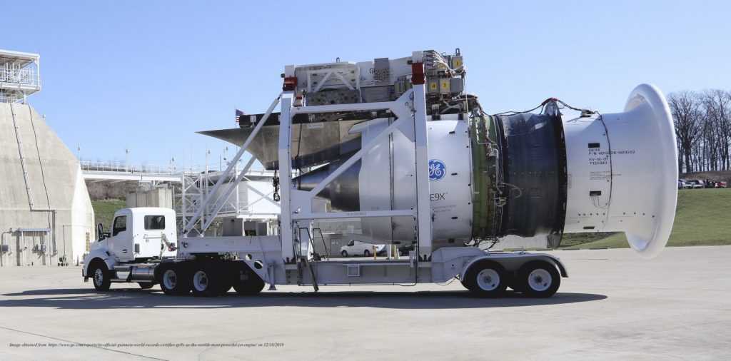 GE9X on a semi-truck